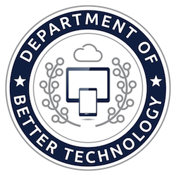 Logo for the Department of Better Technology.